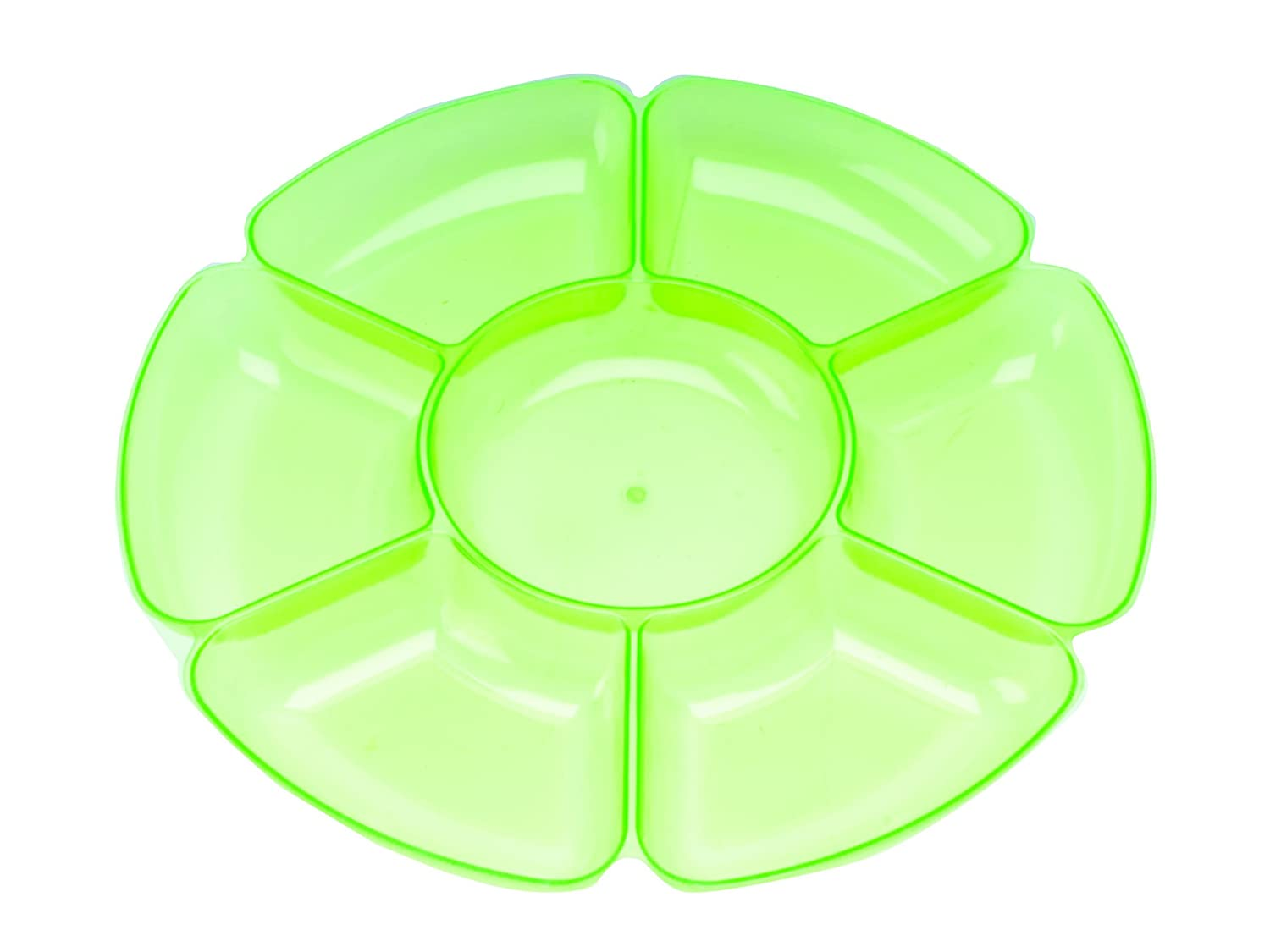 Chip & Dip Tray in Transparent Green
